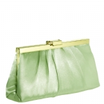 Jessica McClintock J460370 East/West Satin Clutch - Sage/Gold