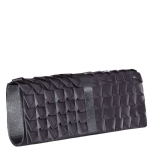 Jessica McClintock J6004801 Satin Ribbon Clutch -Pewter