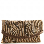 Jessica McClintock J726022 Beaded Clutch - Bronze