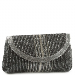 Jessica McClintock J726022 Beaded Clutch - Pewter