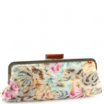 Jessica McClintock J9083461 Floral Rectange Clutch - Fuschia