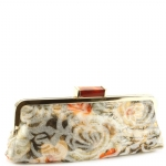 Jessica McClintock J9083461 Floral Rectange Clutch - Gold