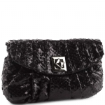 Jessica McClintock J933341 Snake Embossed Clutch - Black
