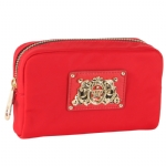 Juicy Couture Small  Cosmetic Pouch-Red