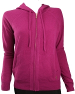 Juicy Couture Womens Cozy Track Hoodie-Magenta