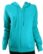 Juicy Couture Womens Cozy Track Hoodie-Turquoise
