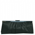 Jessica McClintock J450970 Large East/west Satin Clutch - Black