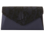 Jessica McClintock 92286 Lace Envelope Clutch -Navy