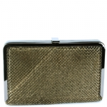Jessica McClintock V31085 Evening Clutch - Antique Gold