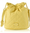 Jessica Simpson Katie Quilted Bucket Crossbody Bag - Buttercup
