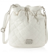 Jessica Simpson Katie Quilted Bucket Crossbody Bag - White