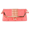 Jessica Simpson Tiffany Fold Over Clutch-Coral