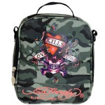 Ed Hardy Shana Love Kills Slowly Lunch Bag- Grey Camo