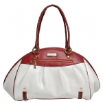La Tour Eiffel N35-10362-3 Satchel Bag - White/Red