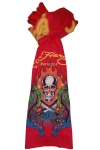Ed Hardy Kids Skull with Serpant Scarf - Red