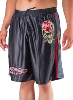 Ed Hardy Mens Sweat Pants Shorts Eagle - Black