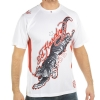 Ed Hardy Mens Tiger Mesh Crew Tee Top- White
