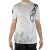 Ed Hardy Mens Dragon Mesh Crew Tee Top - White