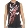 Ed Hardy Mens Eagle Mesh Tank Top- Black