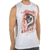 Ed Hardy Mens Cobra Mesh Tank Top- White