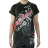 Ed Hardy Mens Eagle Mesh Crew Tee Top - Black