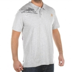 Ed Hardy Mens Surfing Polo Shirt - Gray