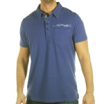 Ed Hardy Mens Unity Rhinestoned Polo Shirt -Blue