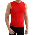 New Balance Compression Crew Neck Muscle Tank - Red