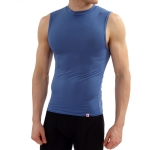 New Balance Compression Crew Neck Muscle Tank - Royal Blue