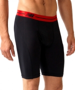 New Balance Performance 9'' Inseam Sport Brief- Black/Red