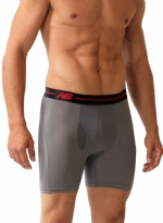 New Balance Performance 6'' Inseam Sport Brief- Grey/Black