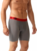 New Balance Performance 6'' Inseam Sport Brief- Grey/Red