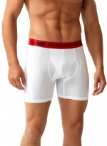 New Balance Performance 6'' Inseam Sport Brief- White/Red