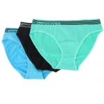 New Balance Womens Seamless Bikini Assorted 3 Pack - Blue/Green