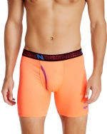 New Balance Men's Photoprint Boxer Brief Logo Print - Shocking Orange