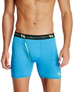 New Balance Men's Photoprint Boxer Brief Logo Print - Turquoise