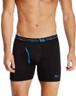 New Balance Men's Photoprint Boxer Brief Logo Print -Black