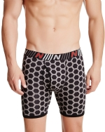 New Balance Men's Photoprint Boxer Brief Hexagon Print - Black