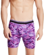 New Balance Men's Photoprint Boxer Brief Camo Print - Purple