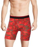 New Balance Men's Photoprint Boxer Brief Camo Print - Red
