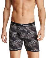 New Balance Men's Photoprint Boxer Brief Slanted Plaid Print - Black