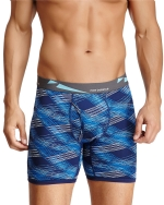 New Balance Men's Photoprint Boxer Brief Slanted Plaid Print - Navy