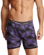 New Balance Men's Photoprint Boxer Brief Slanted Plaid Print - Purple