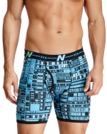 New Balance Men's Photoprint Boxer Brief Typography Print - Light Blue