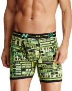 New Balance Men's Photoprint Boxer Brief Typography Print - Lime