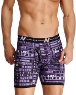 New Balance Men's Photoprint Boxer Brief Typography Print - Purple