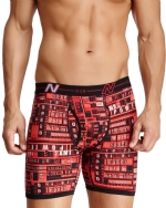New Balance Men's Photoprint Boxer Brief Typography Print - Red