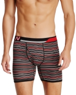New Balance Men's Photoprint Boxer Brief Thin Stripe Print - Black