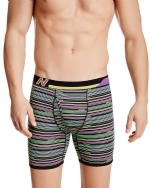 New Balance Men's Photoprint Boxer Brief Thin Stripe Print - Lime