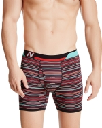 New Balance Men's Photoprint Boxer Brief Thin Stripe Print - Red